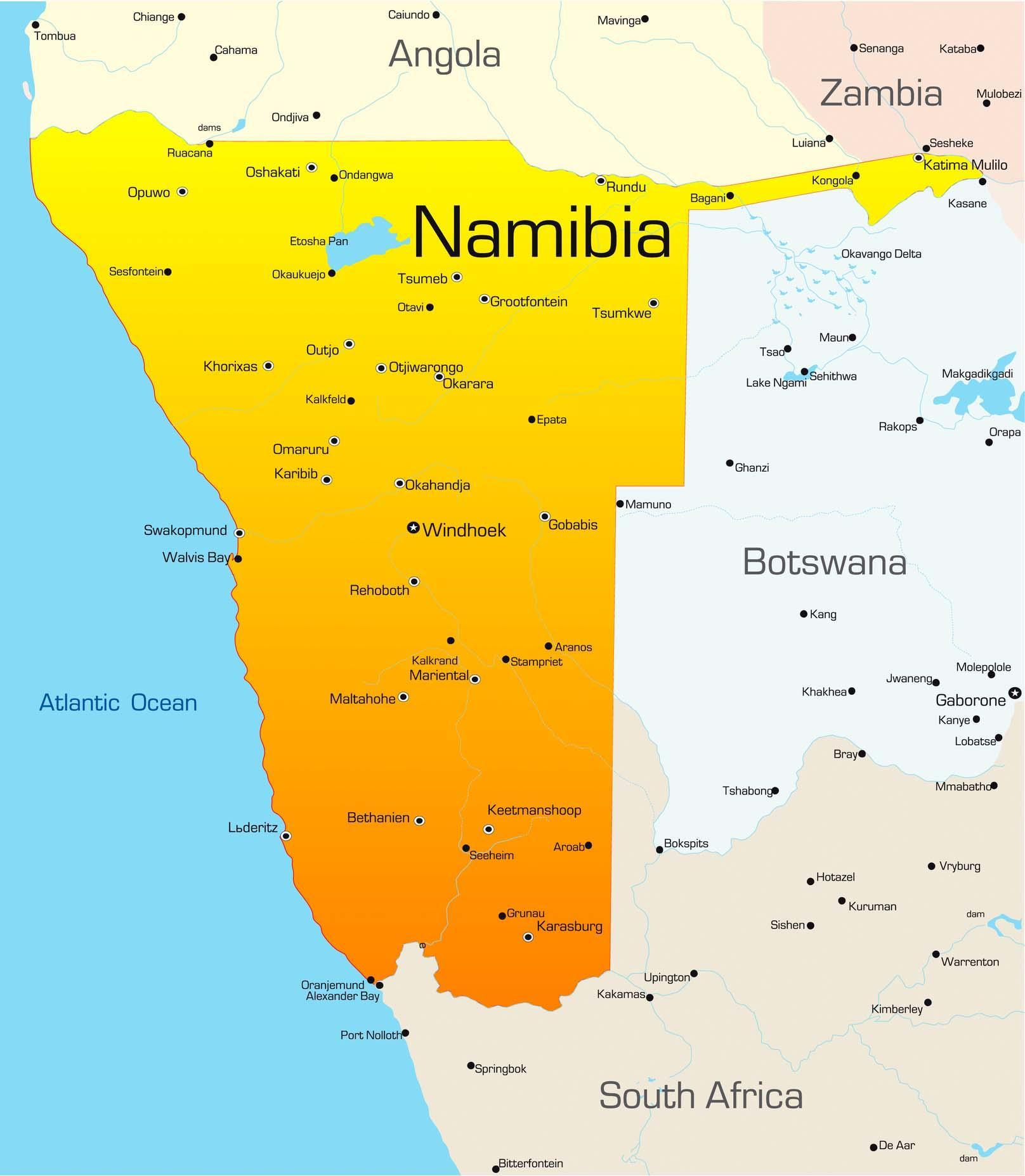 Travel to Namibia